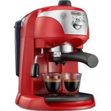 Espressor cu pompa DeLonghi EC221.Red, Dispozitiv spumare, Sistem cappuccino, 15 Bar, 1 l, Oprire automata