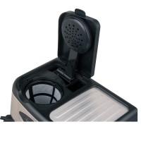 Espressor Del Caffe CoffeeShot 3 in 1 , 15 bari, 1.25 l, Functie spumare, programare, Negru/Inox
