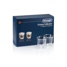 Set 6 pahare cappuccino 190 ml, Fancy Collection DeLonghi