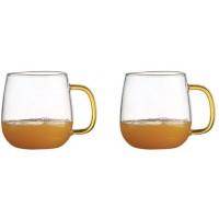 Set 2 Cani thermo MY CUP pentru ceai, lapte sau orice bautura rece sau calda, 480ml, DelCaffe